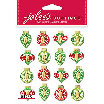Jolee's Boutique Dimensional Stickers-Colorful Ornaments E5022002