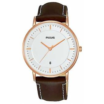Pulsar Gents Brown Leather PG8258X1 Watch