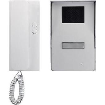Door intercom Corded Complete kit Basetech Detach