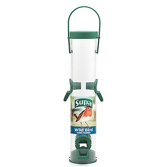 Supa Plastic 4 Port Seed Feeder Green 30cm (12