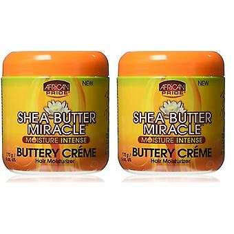 African Pride Shea Butter Miracle smörig Creme 180 ml (2 Pack)