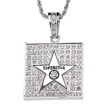 Iced out bling hip hop chain - Super Star