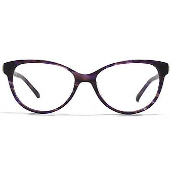 Carvela Round Cateye Glasses In Purple