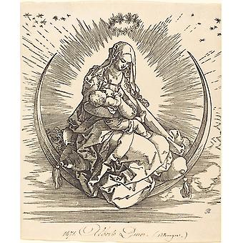 Albrecht Durer - The Madonna on the Crescent Poster Print Giclee