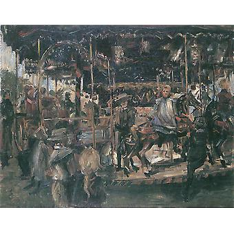 Lovis Corinth - Karussell 1903 Poster Print Giclee