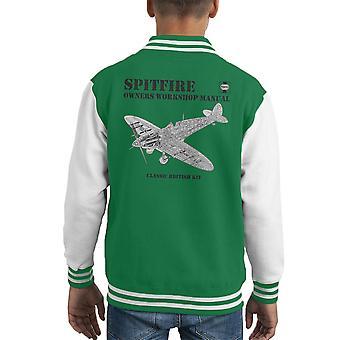 Haynes ägare verkstad manuell Spitfire Kid's Varsity jacka