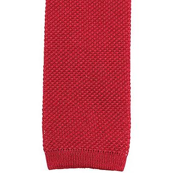 KJ Beckett Plain Cotton Tie - Red