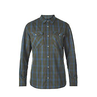 Berghaus Mens Explorer Fall Shirt Dark Green/Blue (Small)