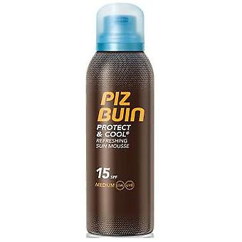 Piz Buin Protect & Cool Refreshing Sun Mousse 200 ml (Cosmetics , Body  , Sun protection)