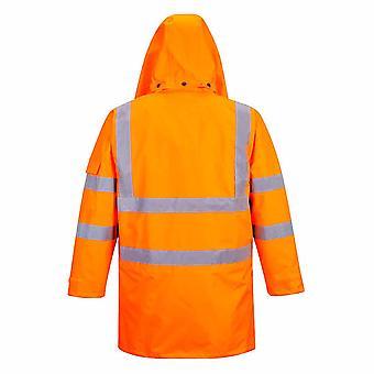 Portwest - Hi-Vis Sicherheit Arbeitskleidung 7-in1-Verkehr Jacke Schiene Gleisseite RIS