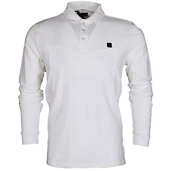 Voi Jeans Kygo Pique Long Sleeve White Polo
