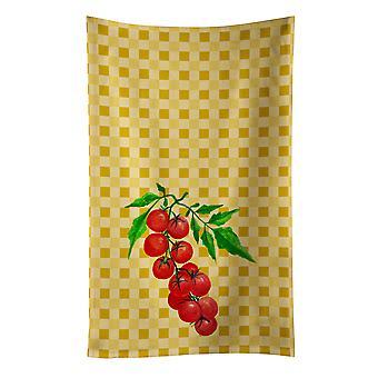 Carolines Treasures  BB7194KTWL Cherry Tomato on Basketweave Kitchen Towel