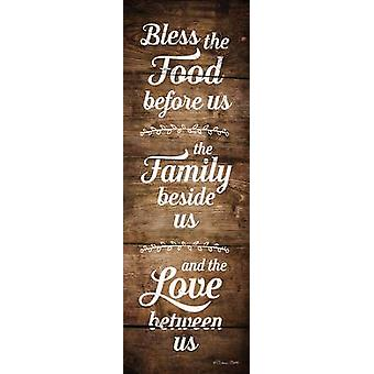Bless the Food Before Us Poster Print by Susan Ball (6 x 18)