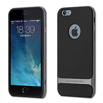 Oprindelige ROCK silikone case sort/grå til Apple iPhone 6 plus 5,5