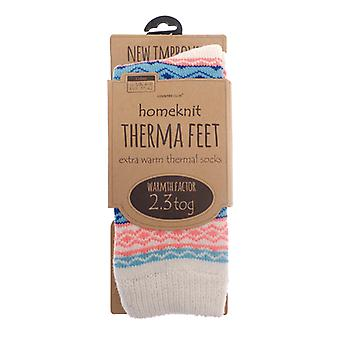 Homeknit Ladies Thermal Socks UK 4-8, Pink