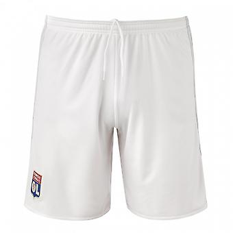 2017-2018 Olympique Lione Adidas Home Shorts (White) - bambini