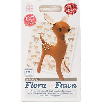The Crafty Kit Co. Sewing Kit-Flora The Fawn SK-0392