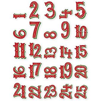 Very Merry Pocket Pieces Die-Cuts 25/Pkg-Numbers 1 Through 25 VM9264