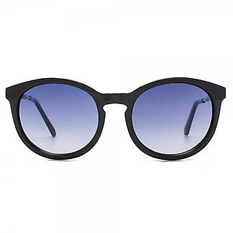 Kurt Geiger Emma Preppy Round Sunglasses In Black