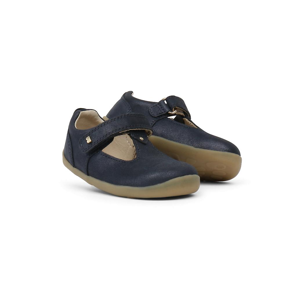 Bobux Step Up Louise Toddler Navy Leather T-Bar Shoes