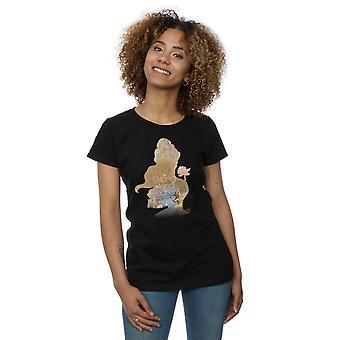 شغل الأميرة الحسناء المرأة ديزني القميص صورة ظلية