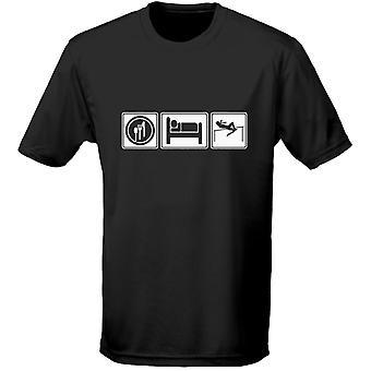 Comer dormir atletismo niños Unisex camiseta 8 colores (XS-XL) por swagwear