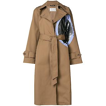 Maison Margiela women's S51AH0076S48086123 Brown polyester trench coat
