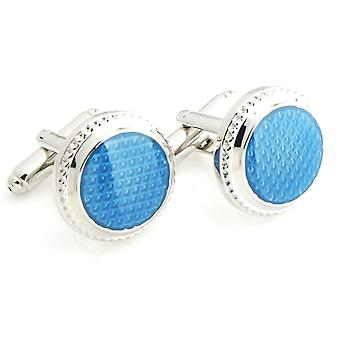 Mens Ladies Blue Button With Stone Styled Cufflinks Wedding Formal Business