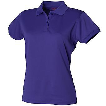 Henbury Womens Short Sleeve Coolplus Polo Shirts