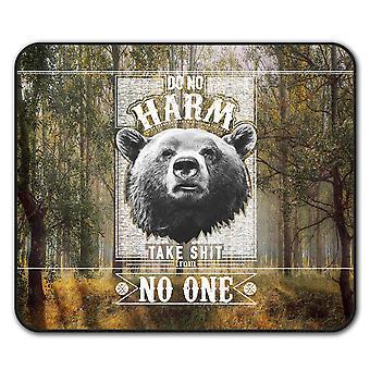 Bear Harm  Non-Slip Mouse Mat Pad 24cm x 20cm | Wellcoda