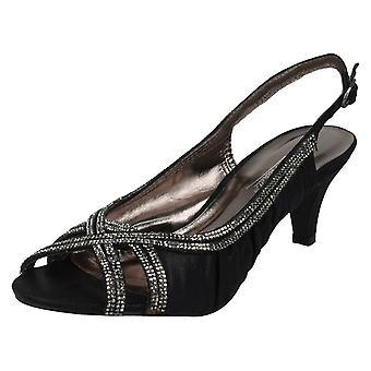 Ladies Anne Michelle Sling Back Peep Toe Sandals F10287