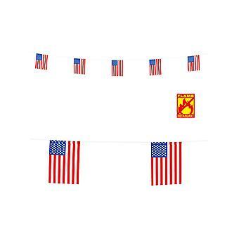 USA Flag Garland 6M