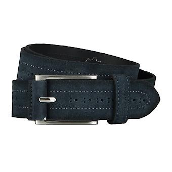 OTTO KERNA bälten mäns bälten läder bälte mocka marinblå/4521