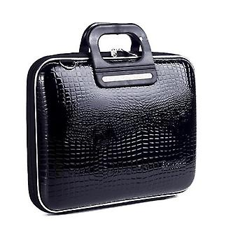 Bombata Bag SORRENTO Cocco Briefcase for 13 Inch Laptop by Fabio Guidoni - Black