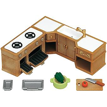 Sylvanian Families fornuis, wastafel en Counter Set