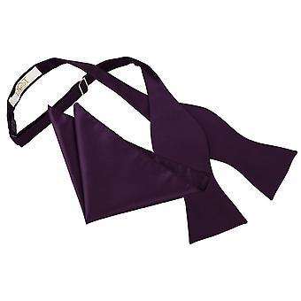 Púrpura de Cadbury verificación sólida atar el moño y conjunto Plaza de bolsillo