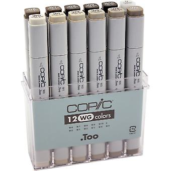 Copic Original Markers 12pc Set-Warm Gray