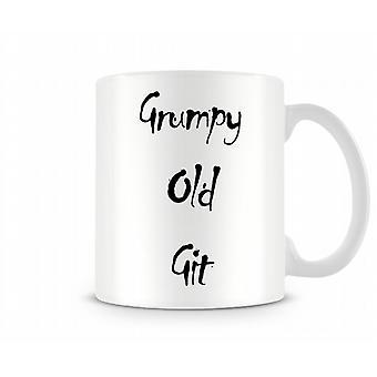 Grumpy Old Git Printed Mug