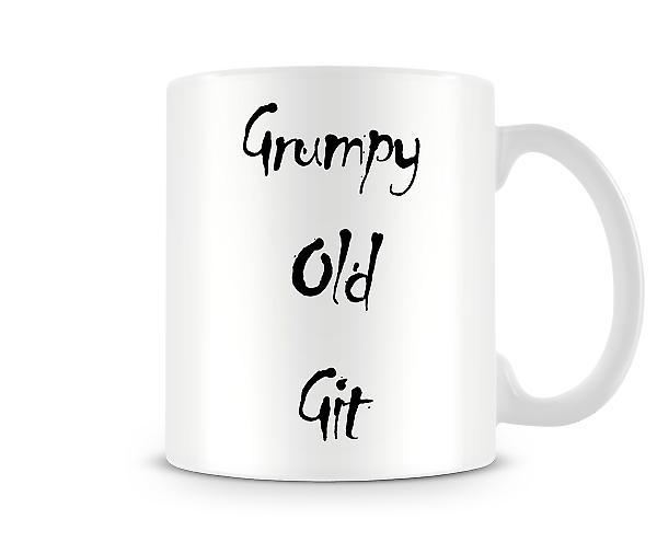 Grumpy Old Git Printed Tasse