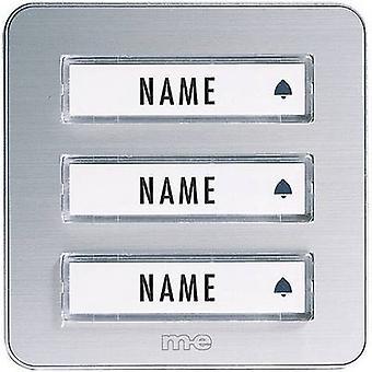 m-e moderne Elektronik KTA-3 a/s Bell Panel inkl. Typenschild 3 x Silber 12 V/1 A