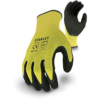 Stanley Mens Stanley Breathable Knit High Vis Gripper Gloves