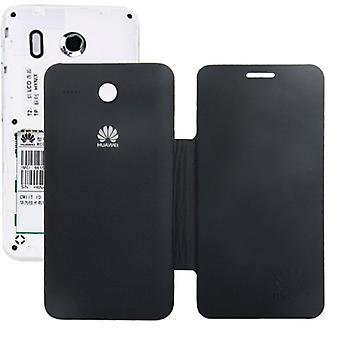Coquille de mobile flip croix pour téléphone Huawei Ascend Y320 noir
