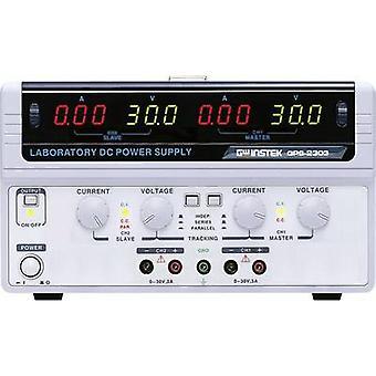 Banc de bloc d'alimentation (tension réglable) GW Instek GPS-2303 0 - 30 v CC 0 - 3 A 180 no W des sorties 2 x