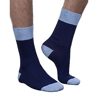 Stanley men's luxury crew sock in navy | Made in England for seriouslysillysocks