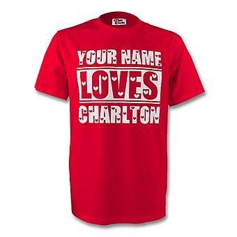 Your Name Loves Charlton T-shirt (red) - Kids