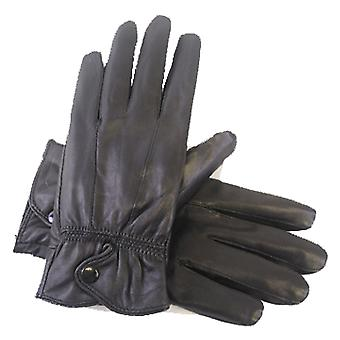 Ladies Thermal Lined Soft Leather Warm Winter Dress Gloves In Box M/L Black