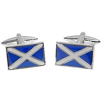 Zennor Scottish Flag Cufflinks - Blue/White
