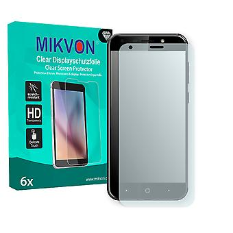 ZTE Blade A6 Screen Protector - Mikvon Clear (Retail Package with accessories) (reduced foil)