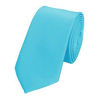 Knytte slipset slips slips 6cm cyan turkis Fabio Farini