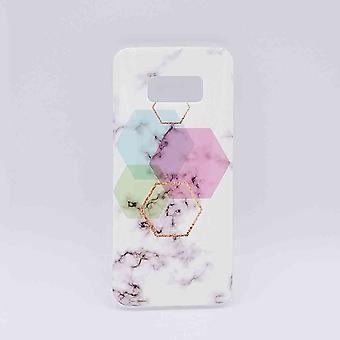 Für Samsung Galaxy S8-Beutel-weiße Marmor Sechseck